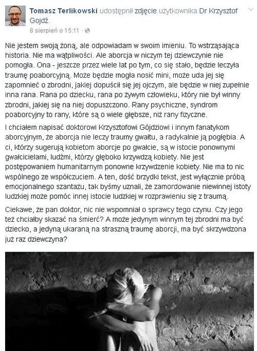 Bardzo OSTRE słowa Krzysztofa Gojdzia pod adresem Tomasza Terlikowskiego