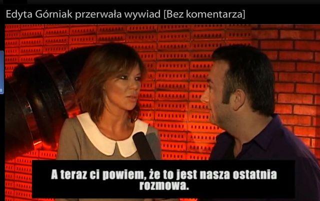 Edyta Górniak przerywa wywiad z dziennikarzem [VIDEO]