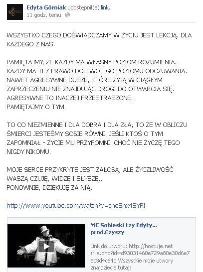 MC Sobieski: Edyta, przestań mazać się jak beksa! (VIDEO)