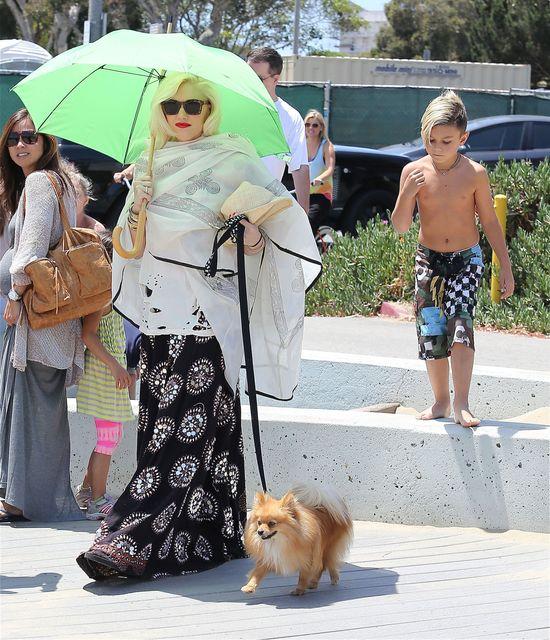 Gwen Stefani ukrywa się przed słońcem