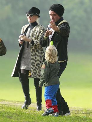 Gwen Stefani z rodziną na imprezie urodzinowej (FOTO)
