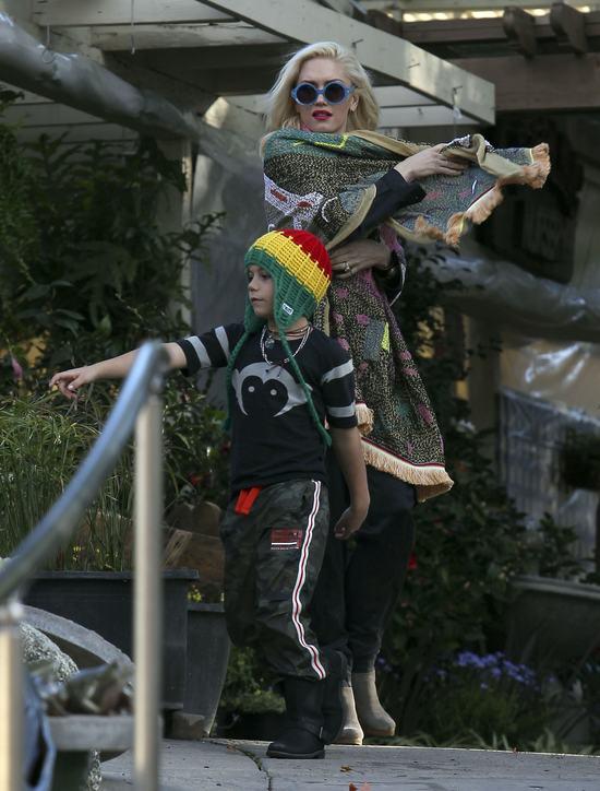 Modna rodzina Gwen Stefani ma wychodne (FOTO)