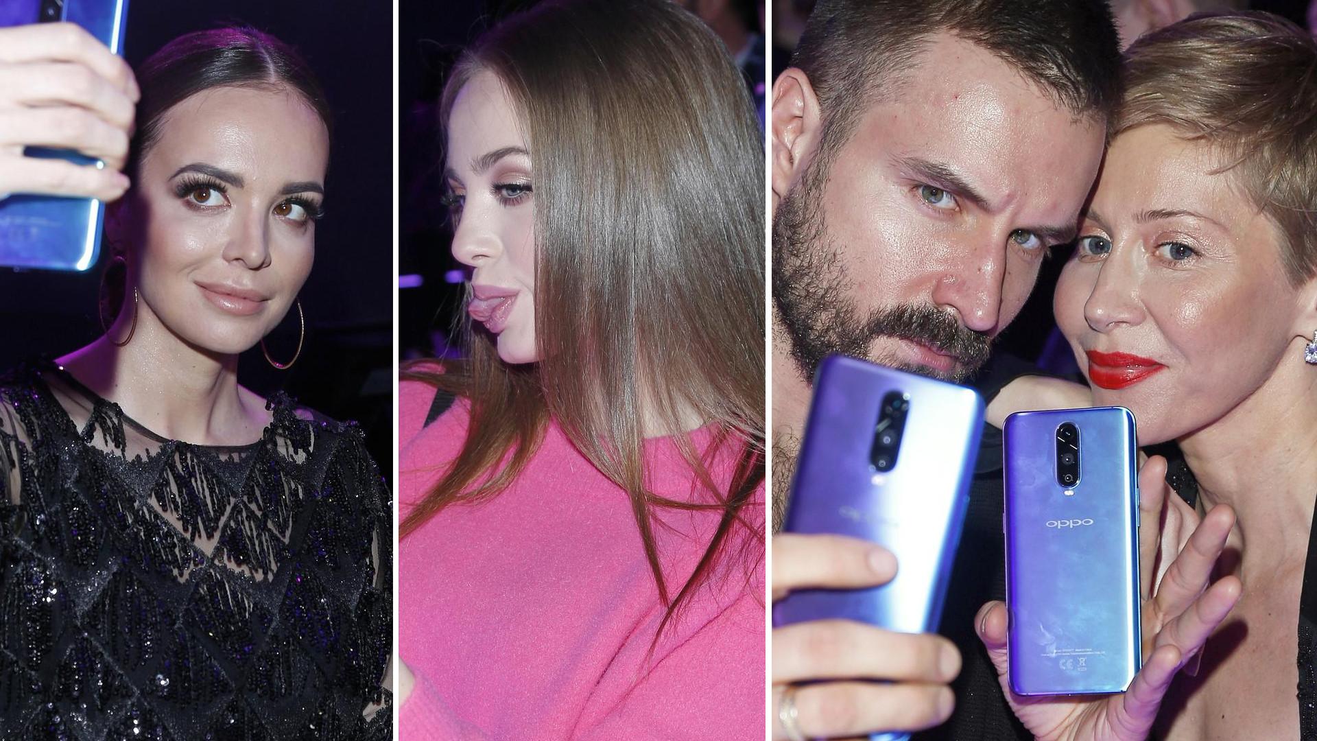 Gwiazdy bawią się telefonami na evencie marki: Wendzikowska, Gąsiewska, Warnke