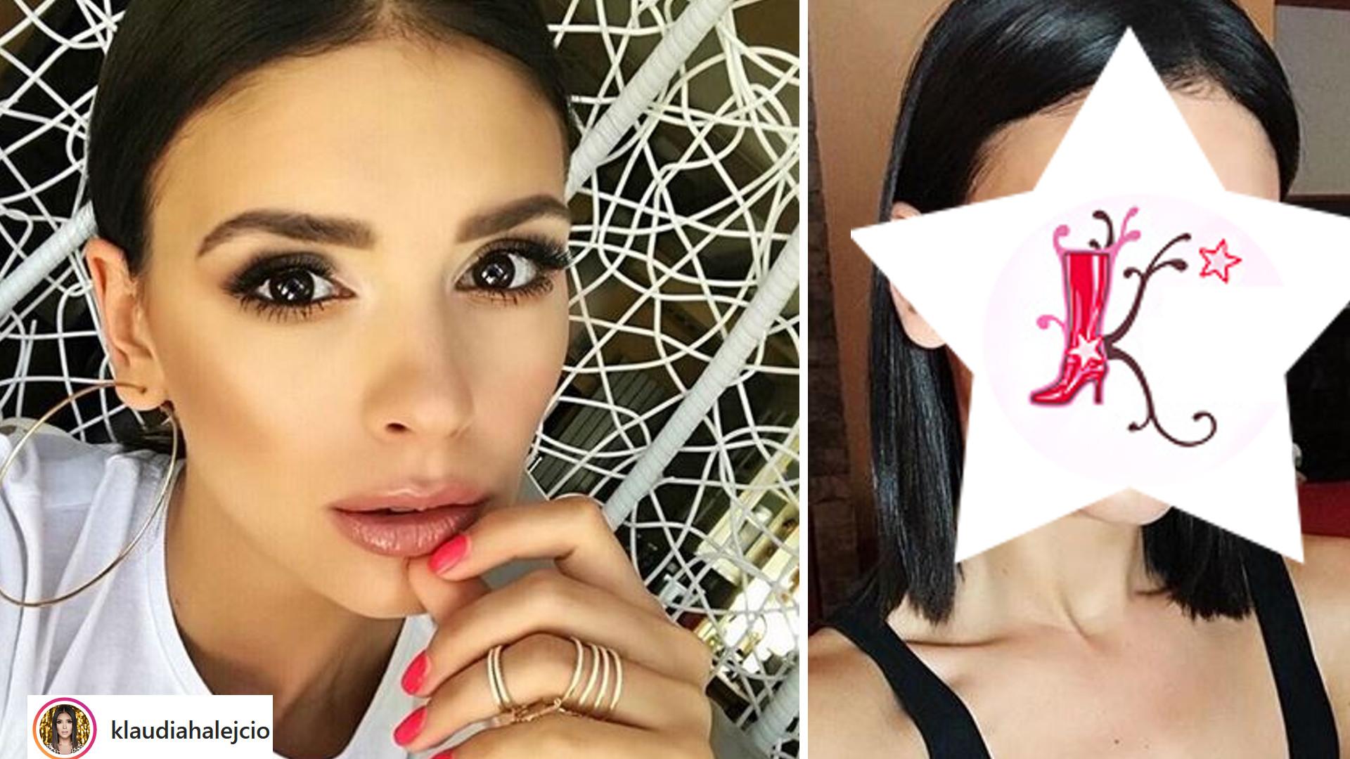 Klaudia Halejcio pokazała zdjęcie PRZED i PO zrobieniu makijażu. Zmiana SZOKUJE?