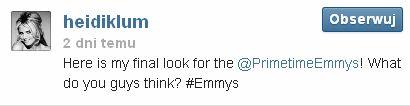 Rozdanie nagr�d  Emmy oczami Heidi Klum (FOTO)