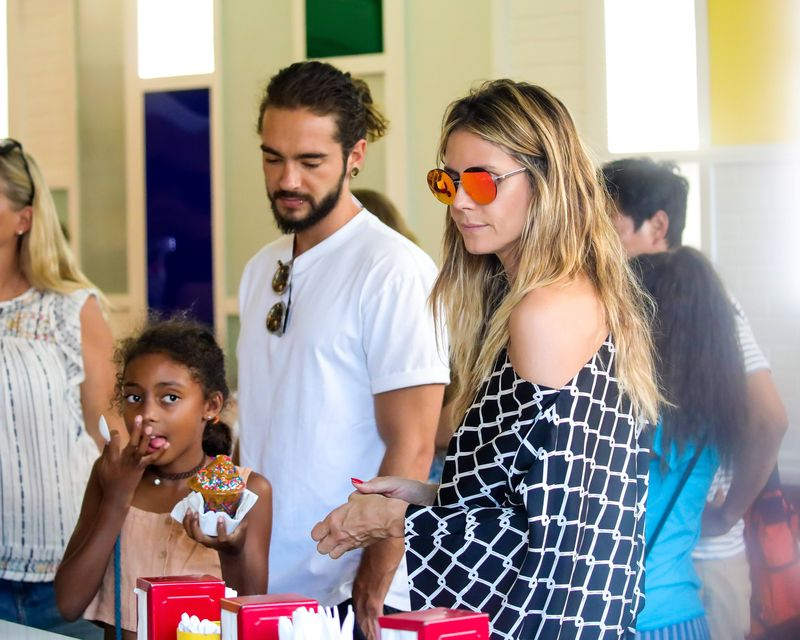 Heidi Klum zabrała Toma Kaulitza na lody z rodziną (ZDJĘCIA)