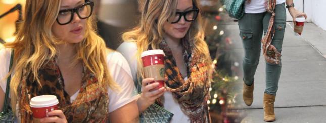 Hilary Duff na przedświątecznych zakupach (FOTO)