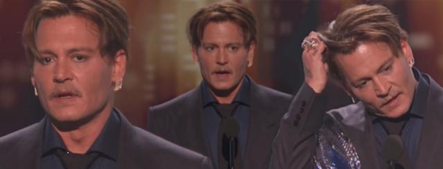 Poruszająca przemowa Johnny'ego Deppa: Przyszedłem tu tylko z jednego powodu...