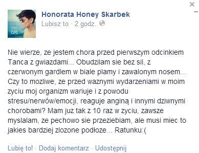 Honey poważnie chora przed 1. odcinkiem Tańca z gwiazdami
