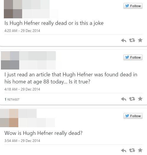 Z ostatniej chwili z FB: Hugh Hefner nie żyje!