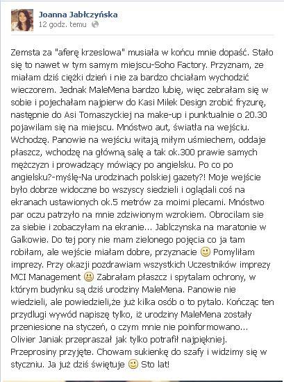 Joanna Jabłczyńska zaliczyła sporą WPADKĘ