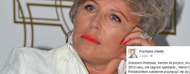 Krystyna Janda wyznała, że była w ciąży zagrażającej życiu