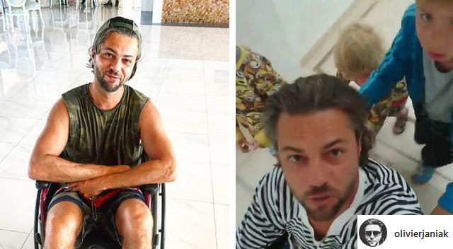 Olivier Janiak na wózku inwalidzkim! No to popływałem…