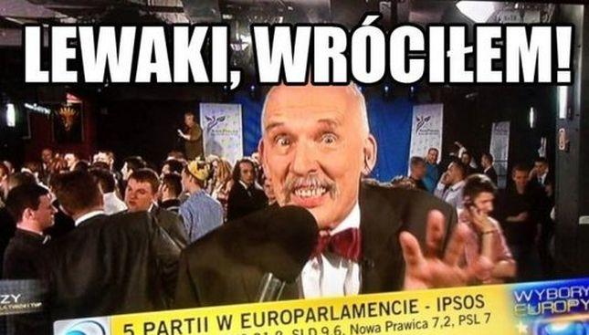 Janusz Korwin Mikke szaleje w sieci (FOTO)