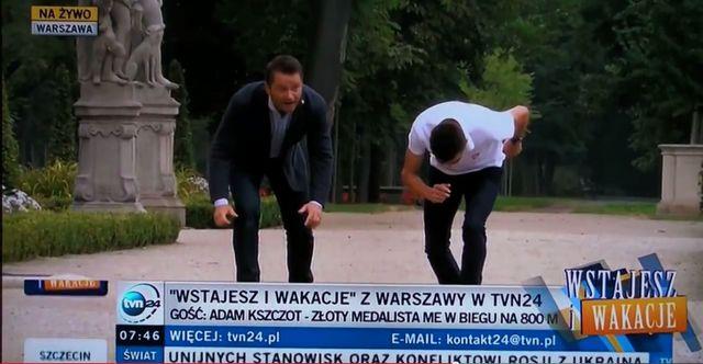 Jarosław Kuźniar zaliczył widowiskowy upadek na wizji (VIDEO