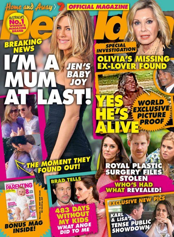 Kilka dni temu Jennifer Aniston powiedziała rodzinie, że zostanie mamą