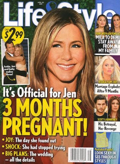 Jennifer Aniston jest w trzecim miesiącu ciąży?!