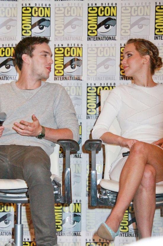 Jennifer lawrence i Nicholas Hoult razem na Comic-Con