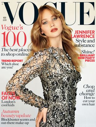 Jennifer Lawrence na okładce brytyjskiego Vogue'a (FOTO)