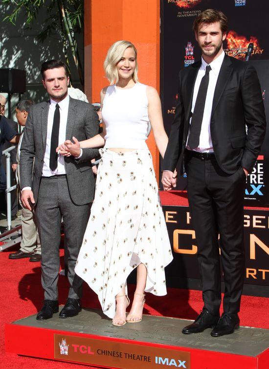 Lawrence,Hemsworth i Hutcherson zostawili swoje odciski FOTO