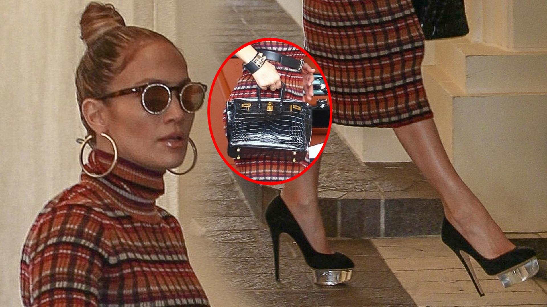 Jennifer Lopez w obłędnych butach na spotkaniu biznesowym (ZDJĘCIA)