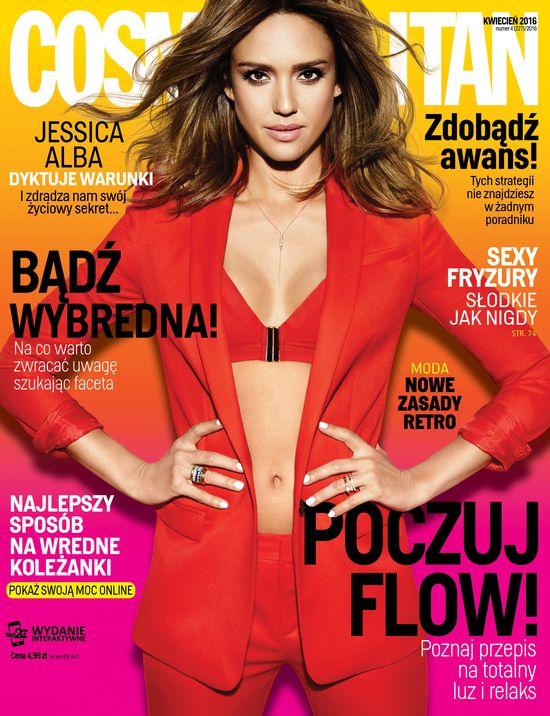 Jessica Alba w najnowszym numerze Cosmopolitan