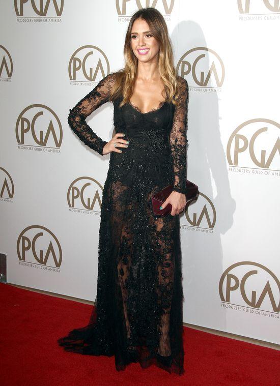 Zjawiskowa Jessica Alba na rozdaniu Producers Guild Awards