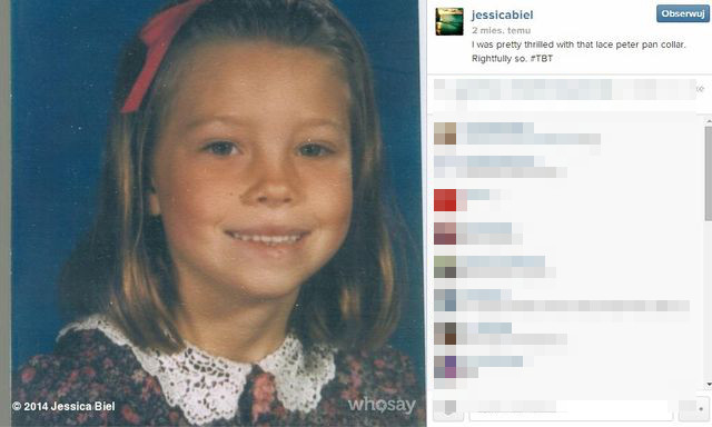 Jessica Biel pokazała mnóstwo zdjęć z dzieciństwa (FOTO)