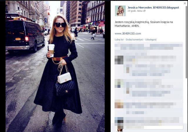 Jessica Mercedes: Jestem rosyjską księżniczką!