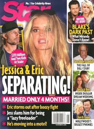 To koniec ma��e�stwa Jessiki Simpson i Erica Johnsona?