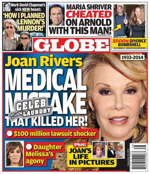 Lekarz zrobił sobie selfie z umierającą Joan Rivers!