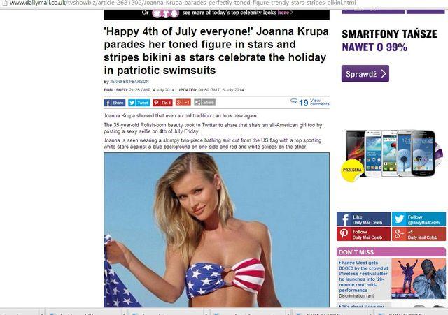 Joanna Krupa �wi�tuje Dzie� Niepodleg�o�ci (FOTO)