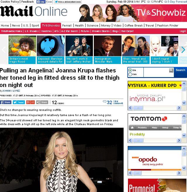 Zagraniczne media porównują Krupę do Angeliny Jolie (FOTO)