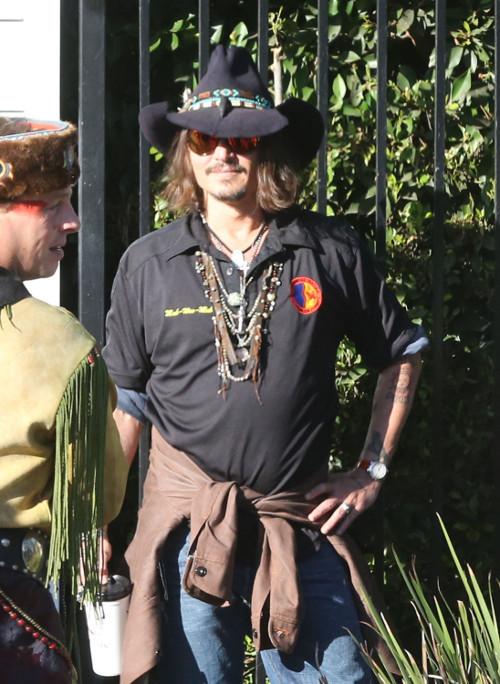 Johnny Depp na pirackiej płycie