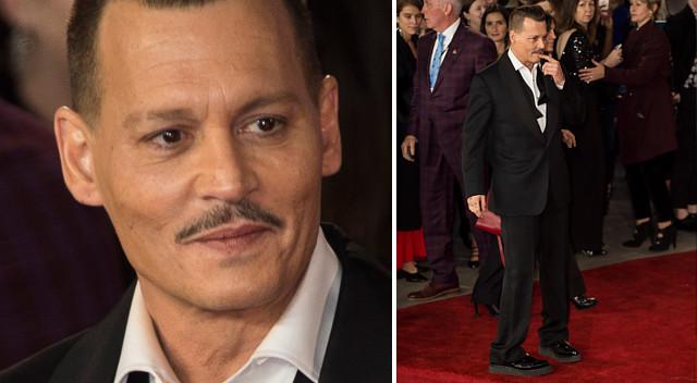 Czy Johnny Depp był pijany na premierze Morderstwa w Orient Expressie? (ZDJĘCIA)
