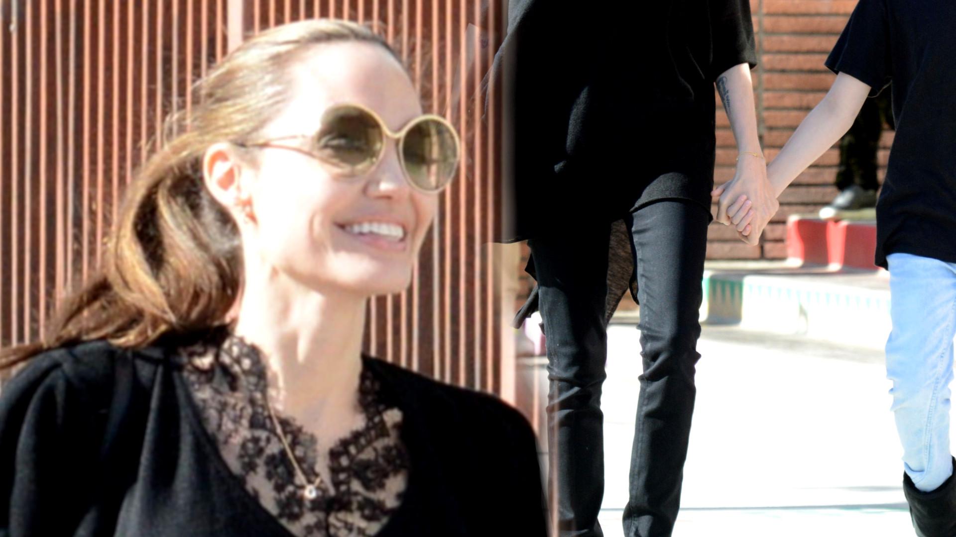 Angelina Jolie z Vivienne spaceruje za rękę – córka jest coraz bardziej podobna do mamy (ZDJĘCIA)