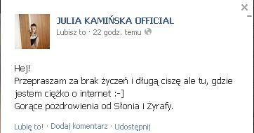 Julia Kamińska pochwaliła się zdjęciem bez makijażu (FOTO)