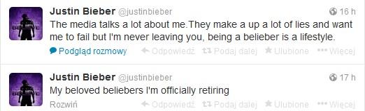 20-letni Justin Bieber przechodzi na emerytur�!