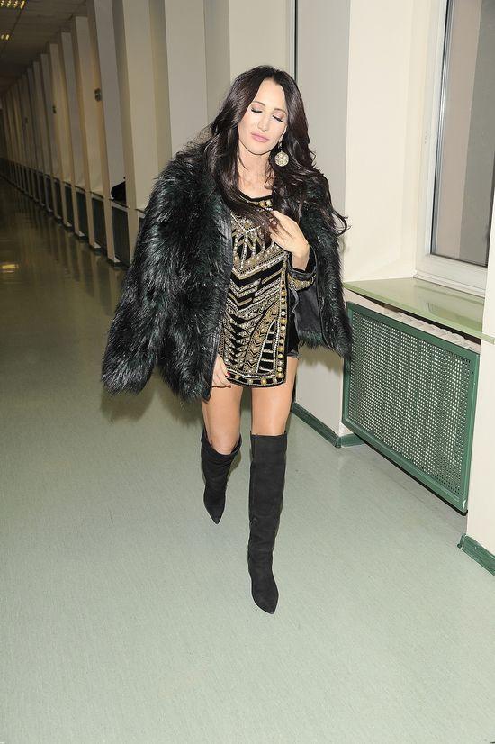 Justyna Steczkowska w popularnej sukience marki H&M