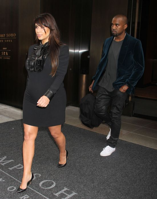 Kim Kardashian zamiast opiekować się dzieckiem...