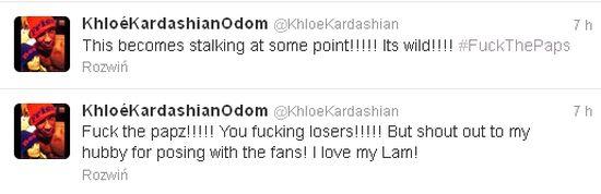 Kloe Kardashian broni męża