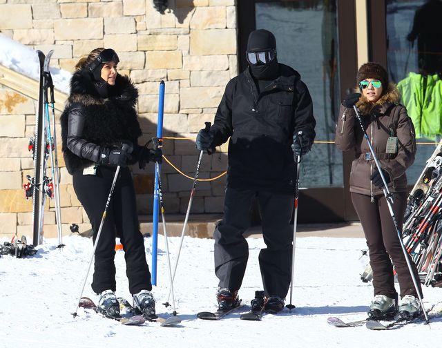 Kim Kardashian i na nartach (FOTO)