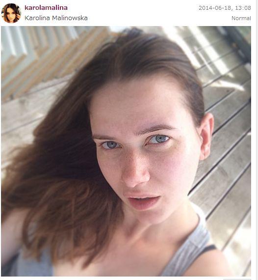 Karolina Malinowska pokaza�a si� bez makija�u (FOTO)