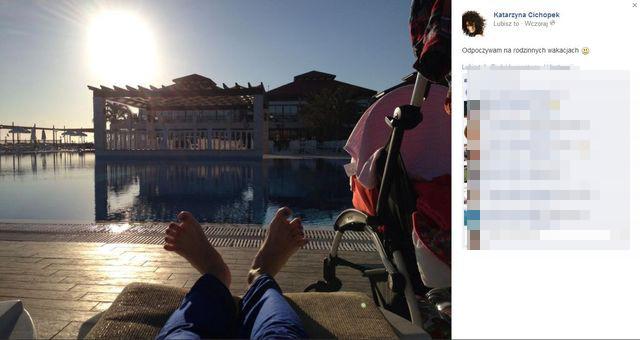 Kasia Cichopek wybra�a si� na urlop (FOTO)