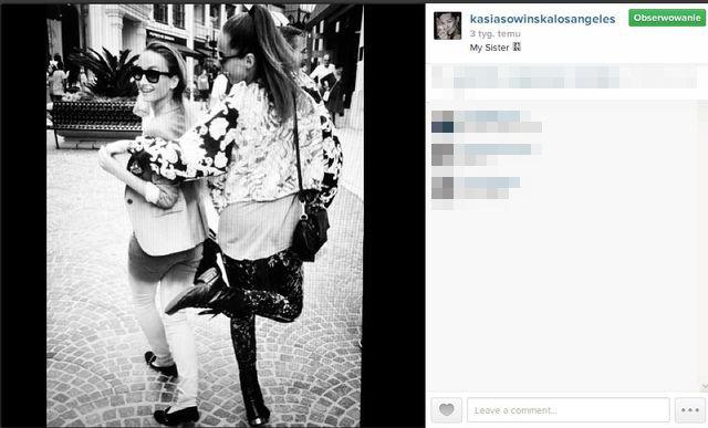 Kasia Sowińska chwali się siostrą (FOTO)