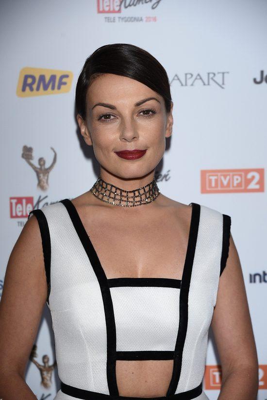 Katarzyna Glinka pokazała brzuszek na gali Telekamery 2016