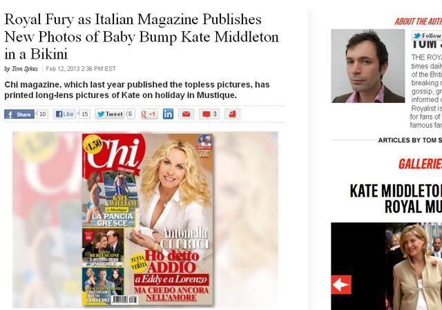 Ciążowy brzuszek księżnek Kate na okładce magazynu (FOTO)