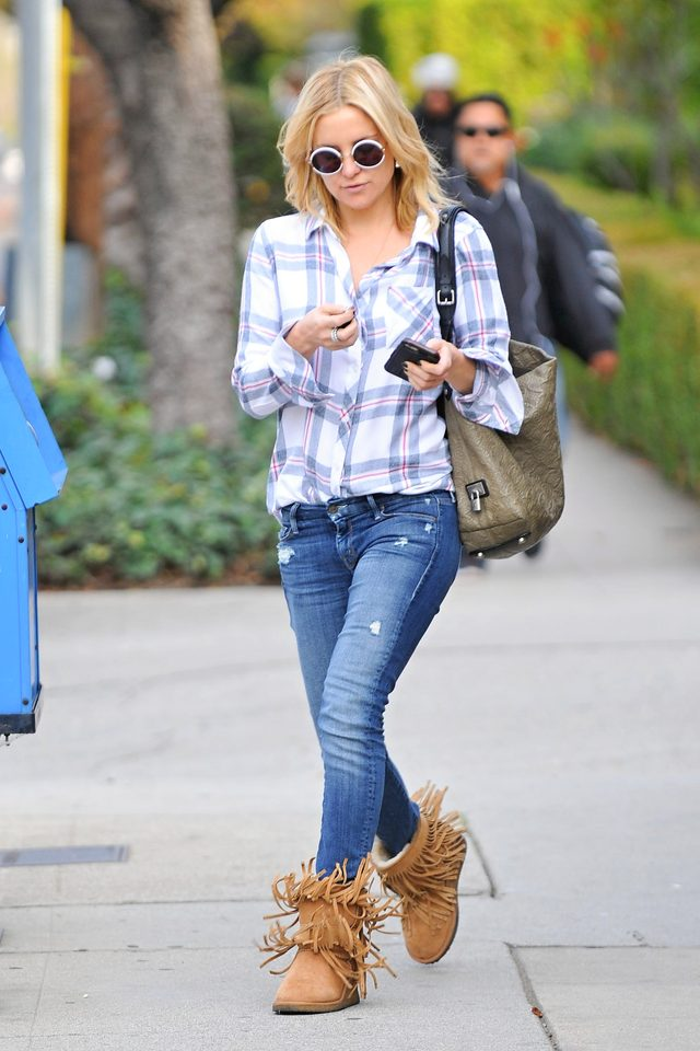 Kate Hudson na Złotych Globach pokazała brzuch (FOTO)