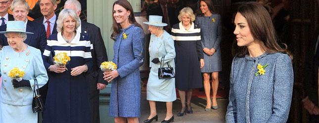 Kate Middleton w towarzystwie Królowej i Camilli