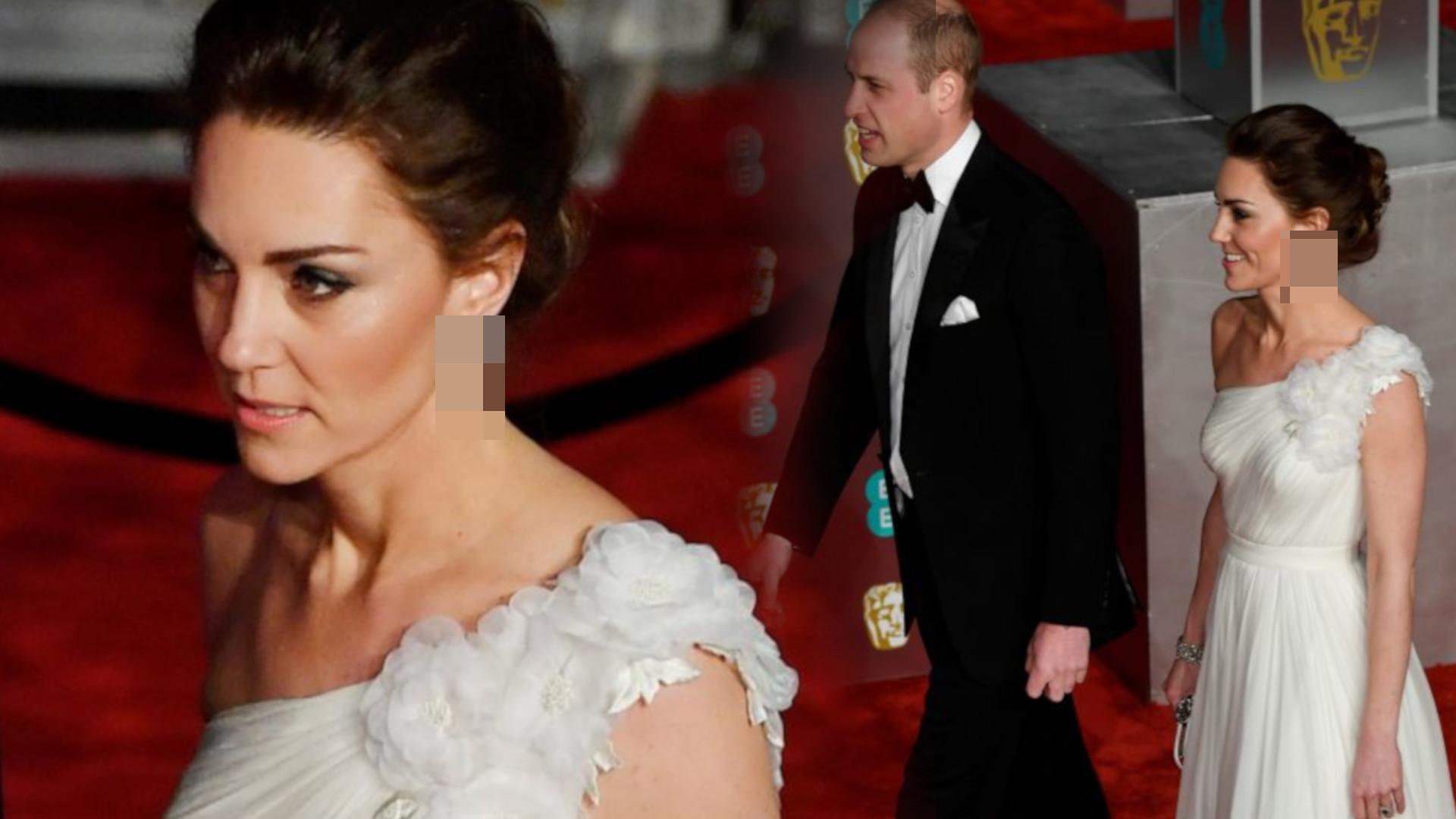 Wszyscy patrzyli na USZY księżnej Kate podczas gali BAFTA